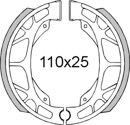 Ferodou frana Scarabeo-Sr 50cc/RMS 0091