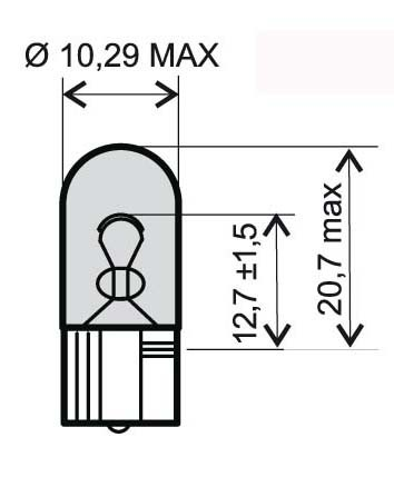 Bec 12V-3W T10/RMS 0265