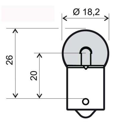 Bec semnalizare 12V 10W/ RMS 0235