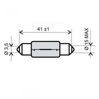 Bec sofit 12V 15W /RMS 0145