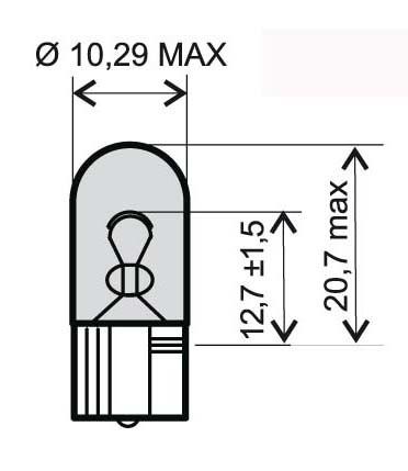 Bec 12V 5W T10 /RMS 0285