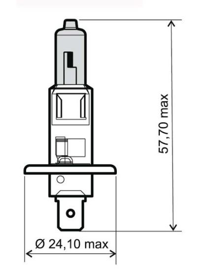 Bec albastru halogen H1 12V-55W / RMS 0030