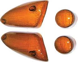 Set sticla semnalizare fata+spate portocaliu MBK Nitro/YM2147BS