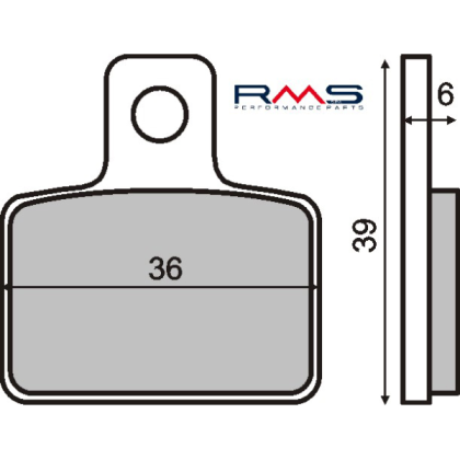 Placute frana spate Scorpa-Montesa-Sherco/RMS 0650
