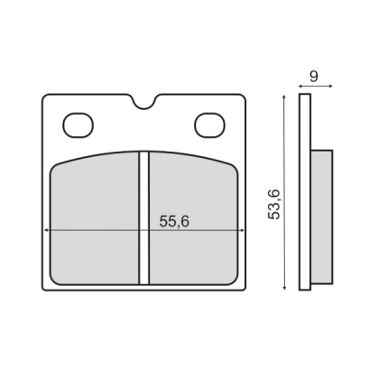 Placute frana fata Bmw R 45 450cc 1981>/RMS 3150