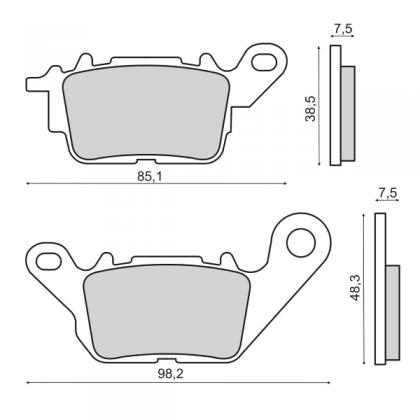Placute frana Yamaha N-Max 125-150cc/RMS 3600