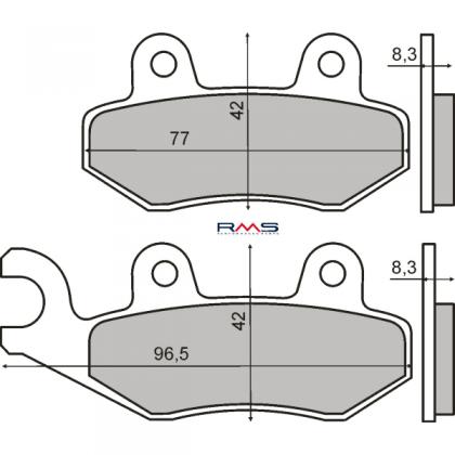 Placute frana spate Peugeot Geopolis-Satelis 125-150cc/RMS 1620