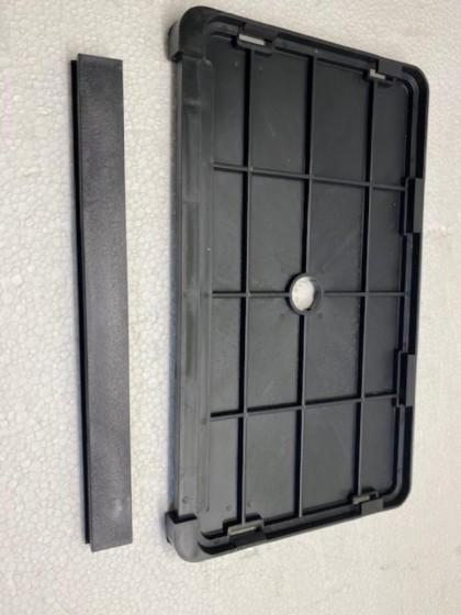 Suport placa numar inmatriculare moto cu element de blocare detasabil - model bagheta standard