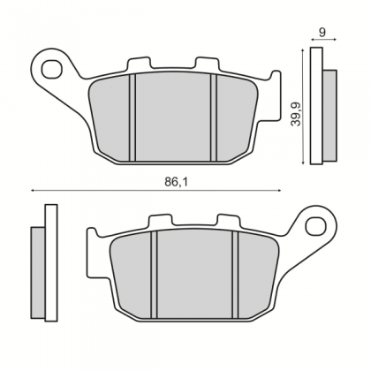 Placute frana spate Honda X-ADV 750cc/RMS 3520
